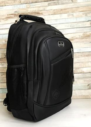 Школьный рюкзак ортопедический черный с usb + aux детский порт...