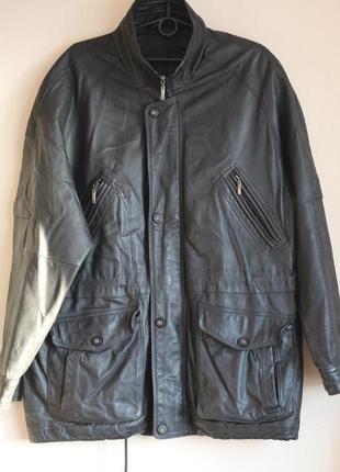 Классная кожаная куртка canda 54-56