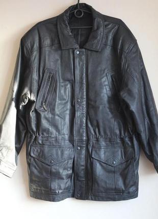 Мужская кожаная куртка на утеплителе 54-56