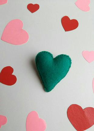 Брошка серце, валентинка, брошь сердце, сердечко, подарок для ...