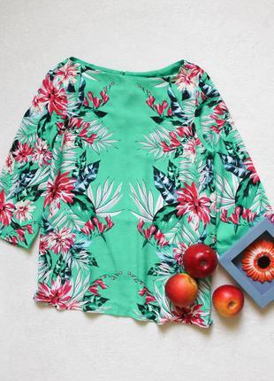 Зеленая цветочная блуза от wallis, размер м