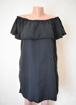 Джинсовое платье с открытыми плечами zara