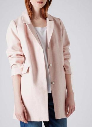 В наличии - летнее фактурное пальто-жакет лен/котон *topshop* ...