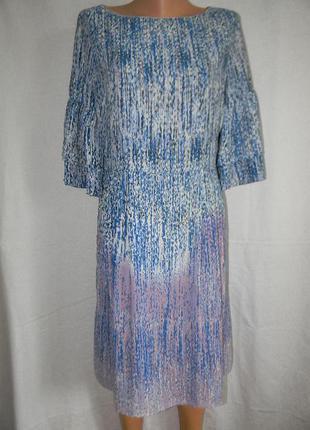 Красивое платье с нежным принтом tu