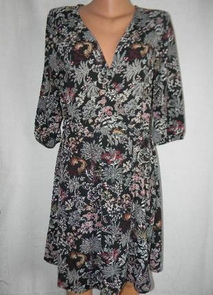 Платье на запах с цветочным принтом onli