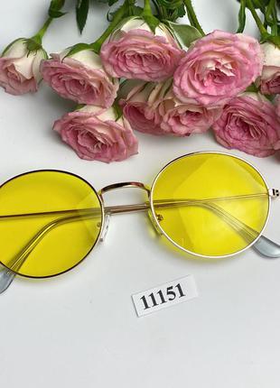 Модные солнцезащитные очки с желтыми линзами к.11151