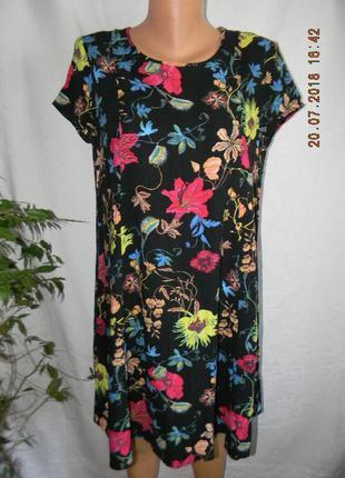 Натуральное платье с ярким принтом h&m