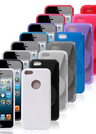 S LINE TPU цвета силиконовый чехол iPhone 5 5s SE