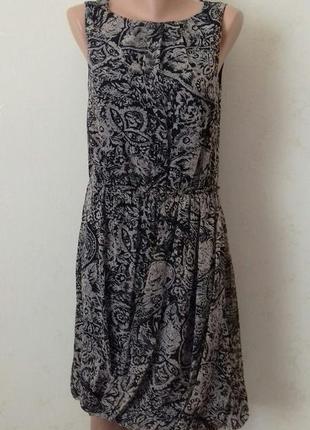 Красивое шифоновое платье с принтом monsoon