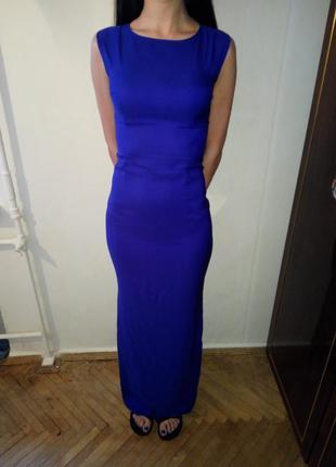 Плаття вечірнє синього кольору