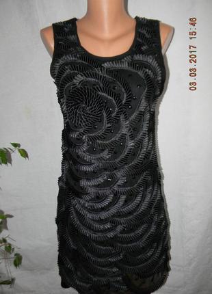 Нарядное платье с вышивкой лентами little mistress