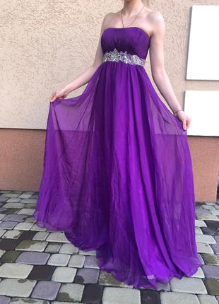 Выпускное (вечернее) платье сиреневого цвета