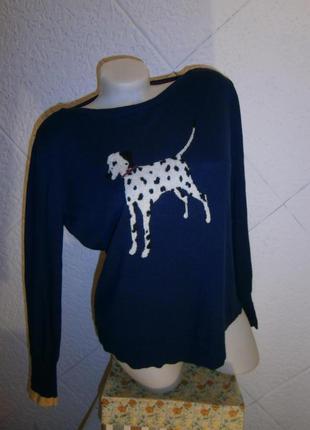 Свитер с далматинцем кролик пес щенок хлопок собака ангора шер...