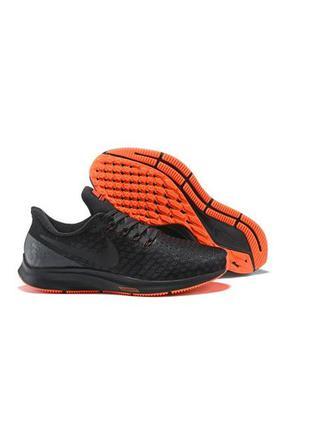 Кроссовки nike air zoom pegasus 35 black orange 942851-099 sne...