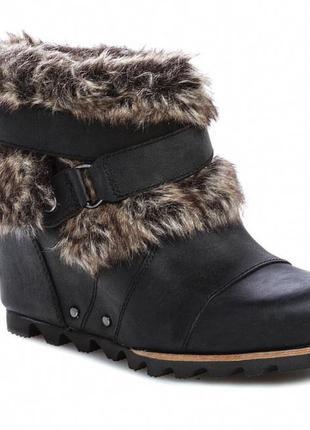 Sorel joan of arctic wedge ankle boots оригинал.