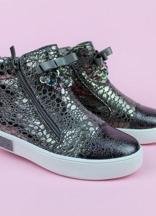 Демисезонные ботинки с бантиком для девочки