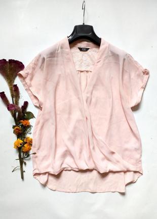 Блуза на запах свободного кроя с кружевной вставкой на спине 12
