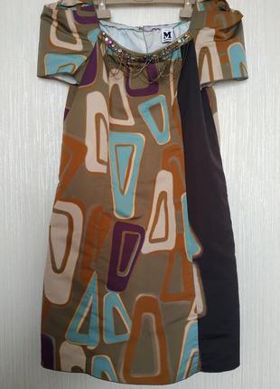 M missoni платье принт  с карманами и декором
