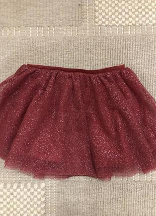 Фатиновая юбка zara на 12-18 месяцев, новая!