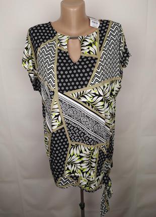 Блуза новая стильная трикотажная в принт wallis uk 12-14/40-42/m