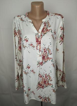 Блуза рубашка оригинальная шикарная в цветы regatta uk 16/44/xl