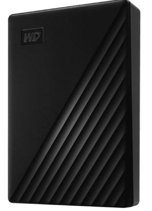 "Жесткий диск WD 2.5"" USB 3.2 Gen 1 4TB My Passport Black."