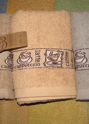 Полотенце кухонное кофе махра 35х75