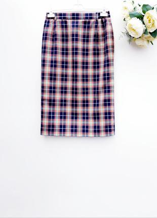 Красивая юбка миди в клетку стильная юбка миди