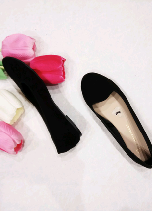 Новые балетки, туфли, танкетка, чёрные, Atmosphere