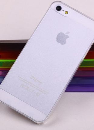 Ультратонкий цветной чехол пластик iPhone 5 5S SE