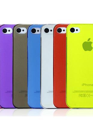 Матовый цветной защитный чехол для iPhone 4 4S
