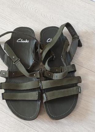 Clarks кожаные женские сандалии босоножки р.38