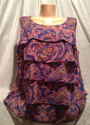Красивая блузочка с принтом.1147