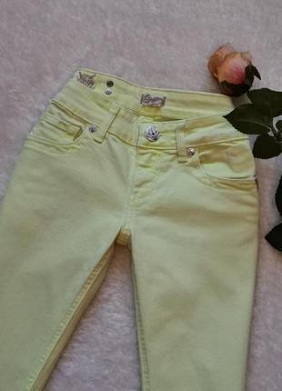 Eight sin необычные жёлтые джинсы размер 26-27
