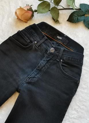 Чёрные базовые джинсы талия высокая посадка размер 34 xs итали...