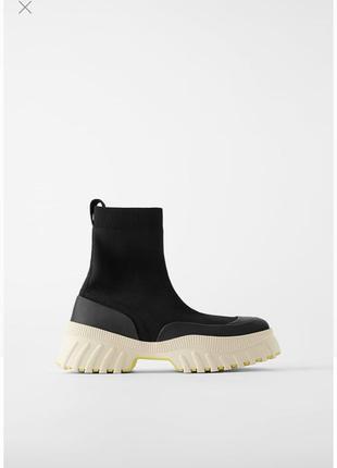 Ботинки чулки zara