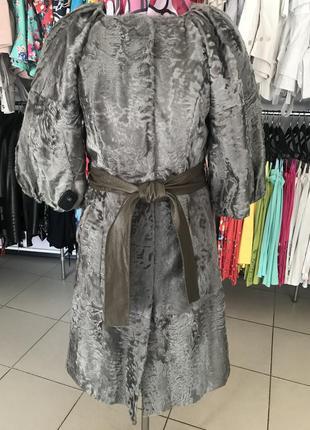 Пальто демисезонное мех козлик