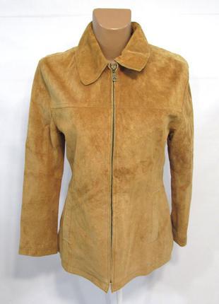 Куртка кожаная spengler, 36 (s), замш, как новая!