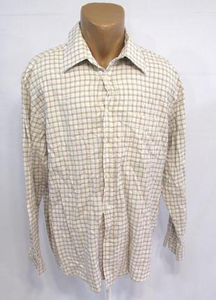 Рубашка watsons, 44, хлопок (мягкий, уплотненный), как новая!