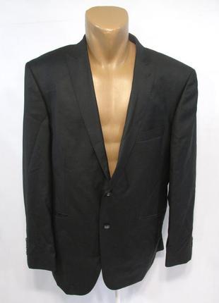 Пиджак bastini, черный, 54, шерсть-шелк, как новый!