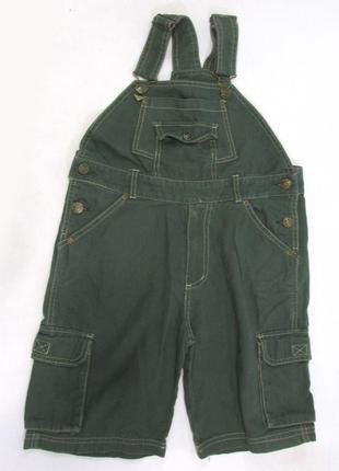 Шорты детские джинсовые vroom&dressman, 122 (7 лет), с лямками...