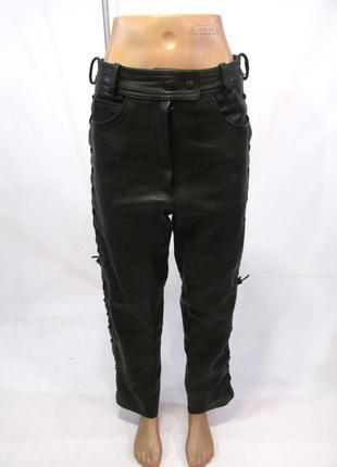 Штаны кожаные мото, черные louis, 42 (w30), толстая кожа, как ...