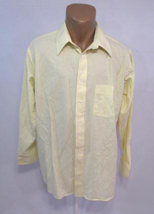 Рубашка bill blass, l, св. желтая, mexico, отл сост!