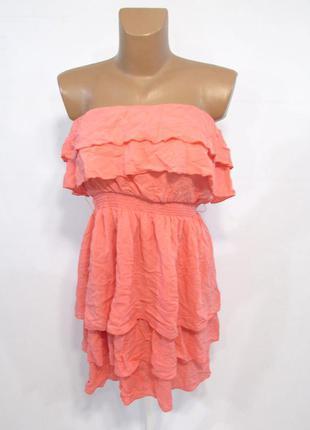 Платье легкое, no excuse, 38-40 (m), без бретелек, пастельно р...