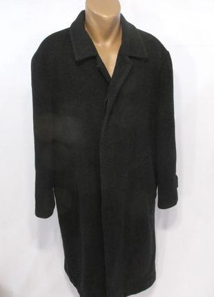 Пальто шерстяное abercrombie&fitsch, gr 25, (xl), т.серое, дли...