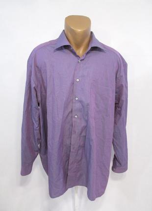 Рубашка фиолетовая c.comberti, 45 (xxl), cotton-pes, как новая!
