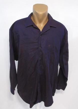 Рубашка christian dior, xxl, cotton, фиолетовая, фирменная, ка...