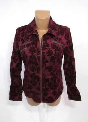 Куртка бордовая bonita, 36 (s), велюр, как новая!