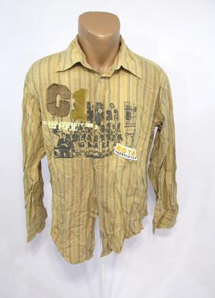 Рубашка винтажная old school, l, cotton, отл сост!