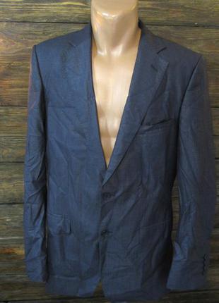 Пиджак стильный zara man, 52 (l), т. синий, как новый!